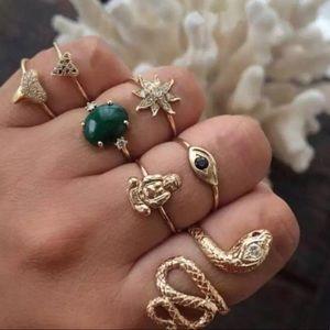 ⚡️ Snake / Buddha Boho Ring Set ⚡️